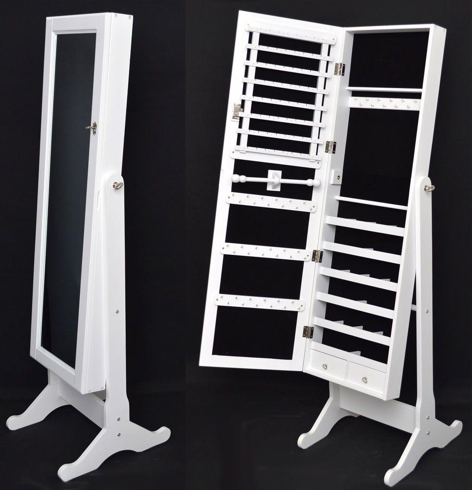 Armario tocador con espejo guarda joyas blanco 148 cm for Espejo joyero xxl