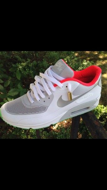 shoes nike airmax white pink green airmax grey airmax90