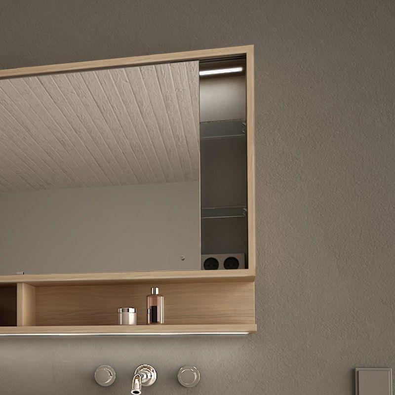 Spiegelschrank Mit Schiebeturen Und Led Masima Spiegelschrank Badezimmer Spiegelschrank Und Bad Styling