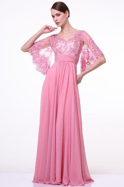 17 3095 Prima Boho Chic Lace Chiffon Bell Sleeve Mother Of Bride