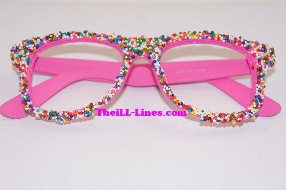 bf4282bf7d0e Custom Candy Sprinkle Wayfarer Style Glasses