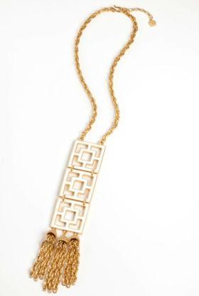 Enamel 3 Tier Brick Necklace