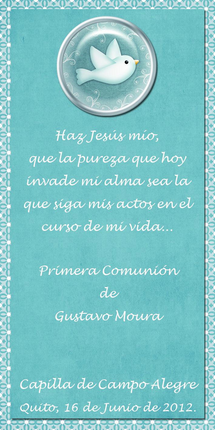 Recuerdos De Bautizo Quito.Tarjeta De Primera Comunion Y Bautismo 8 Cm X 13 Cm Frases
