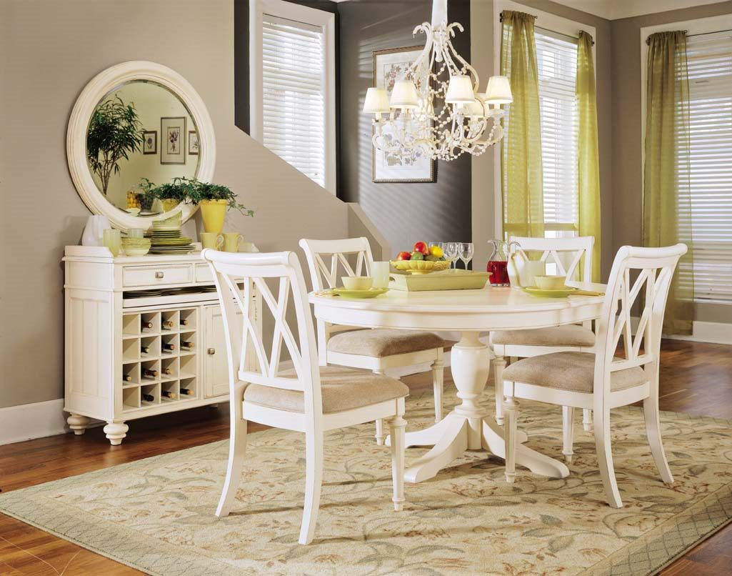Dining room ideas round table - Round White Dining Room Sets Best Design Ideas 414647 Decorating Ideas