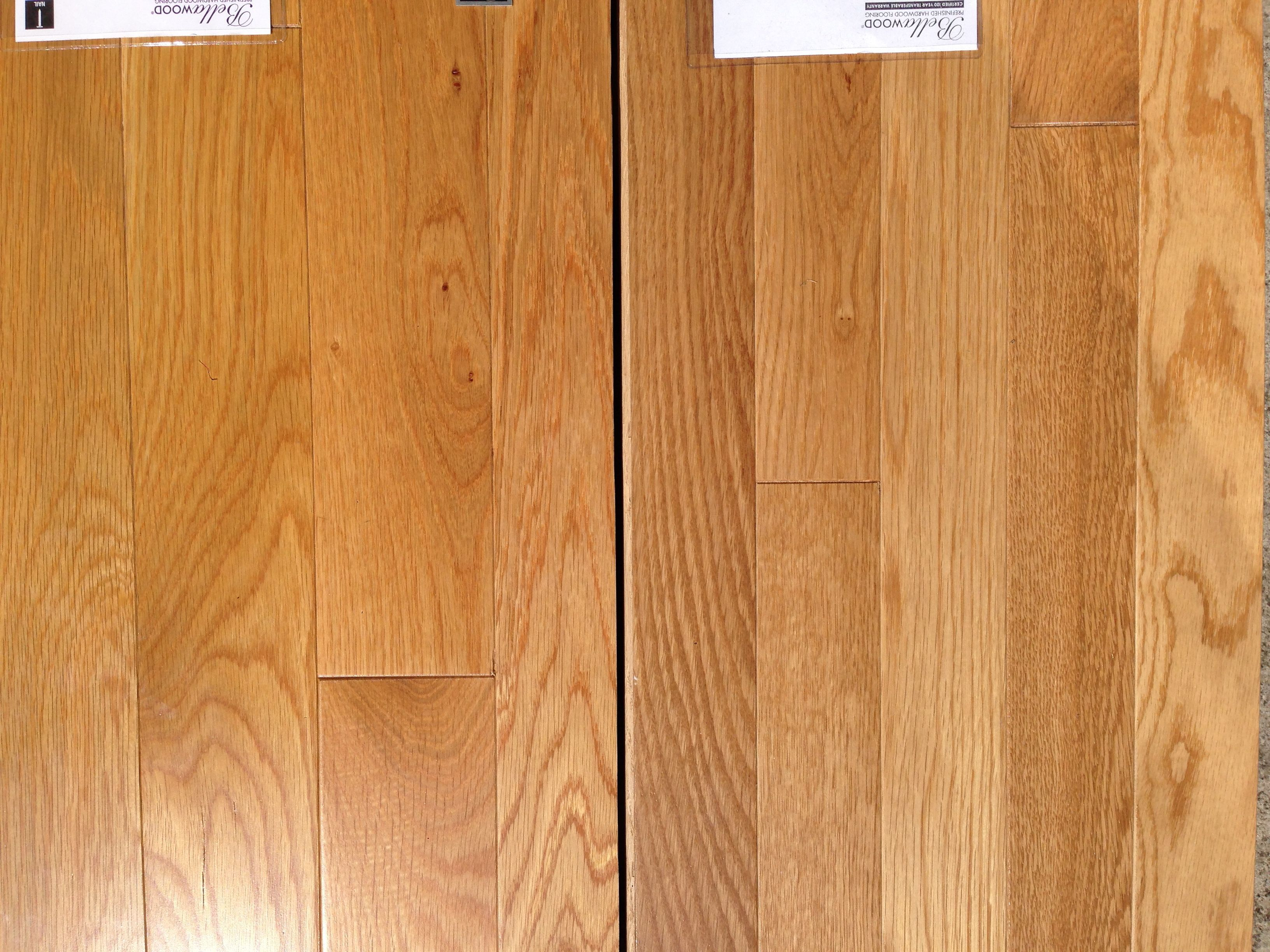 White Oak 2 1 4 Quot Vs 3 1 4 Quot Light Colored Wood Hardwood