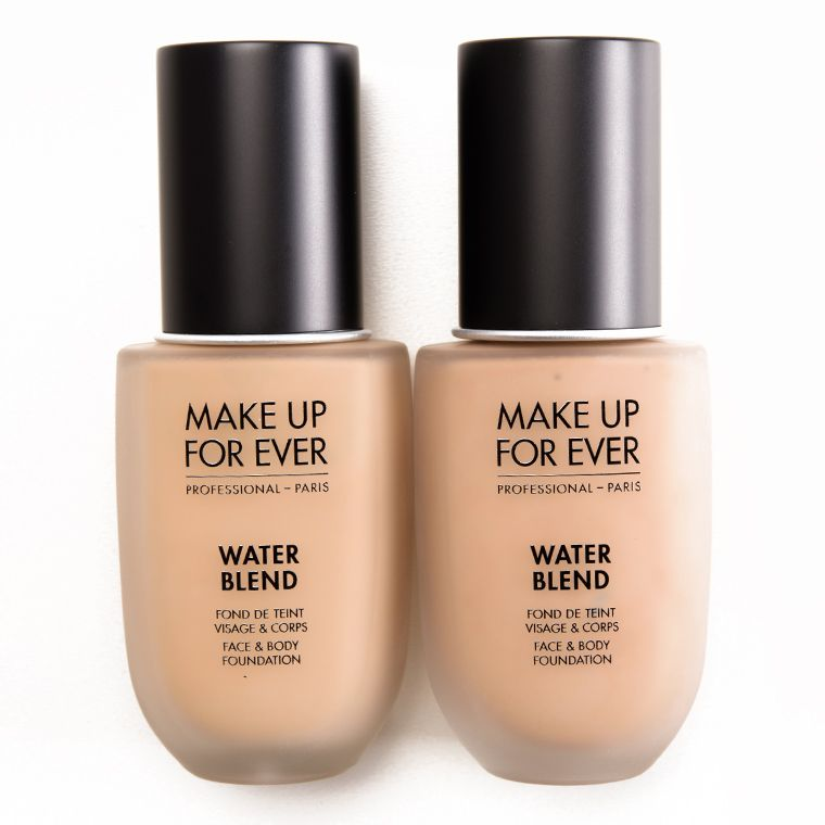 Make Up For Ever Water Blend Foundation Review Photos Swatches Body Foundation Make Up For Ever Foundation Swatches