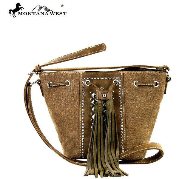 MW288-8111 Montana West Tassle Messenger Bag (11.520 HUF) ❤ liked on Polyvore featuring bags, messenger bags, messenger bag, leather messenger bag, cross body messenger bag, courier bag and brown messenger bag