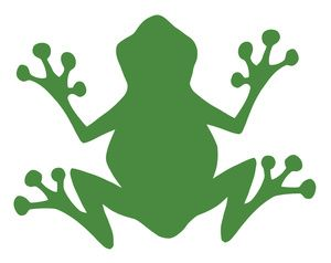 silhouette clipart image green frog silhouette templates rh pinterest com Valentine Frog Clip Art Tree Frog Clip Art