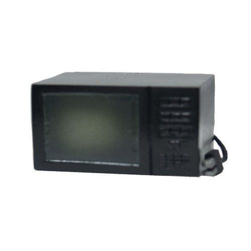 Barbie Microwave Oven: Dollhouse Miniature Black Microwave Oven