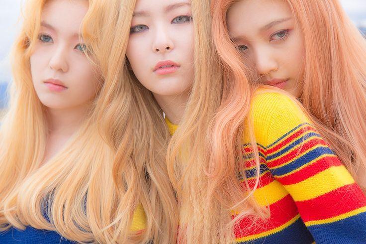 Korea Korean Kpop Idol Girl Group Band Red Velvet S Ice Cream Cake Hairstyles Blonde Light Hair Color Red Velvet Ice Cream Red Velvet Photoshoot Red Velvet Joy
