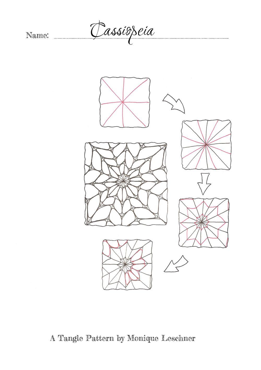 Cassiopeia | Zentangle Tangles!! | Pinterest | Fehler, Willkommen ...