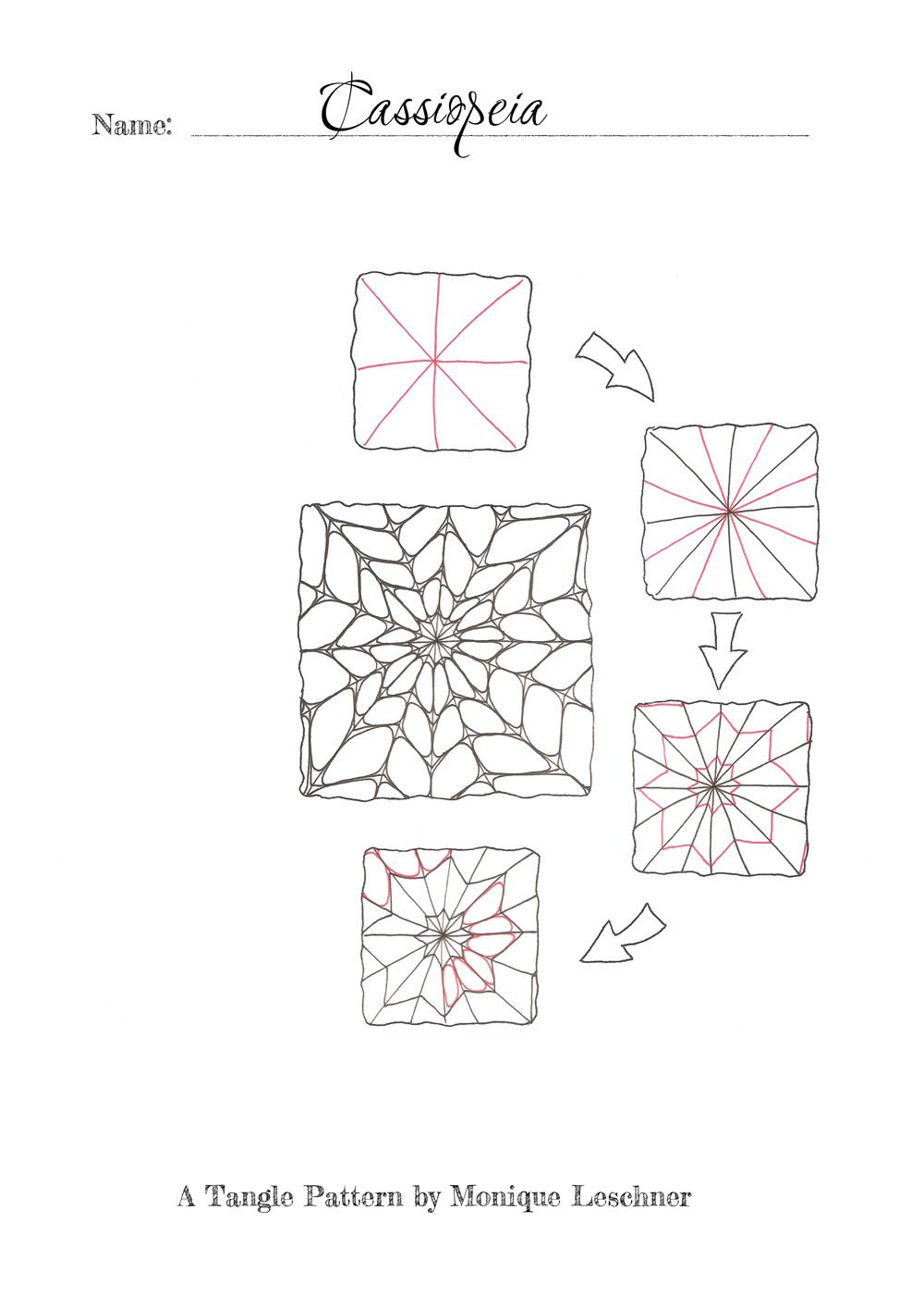cassiopeia zentangle tangles pinterest fehler willkommen und muster. Black Bedroom Furniture Sets. Home Design Ideas