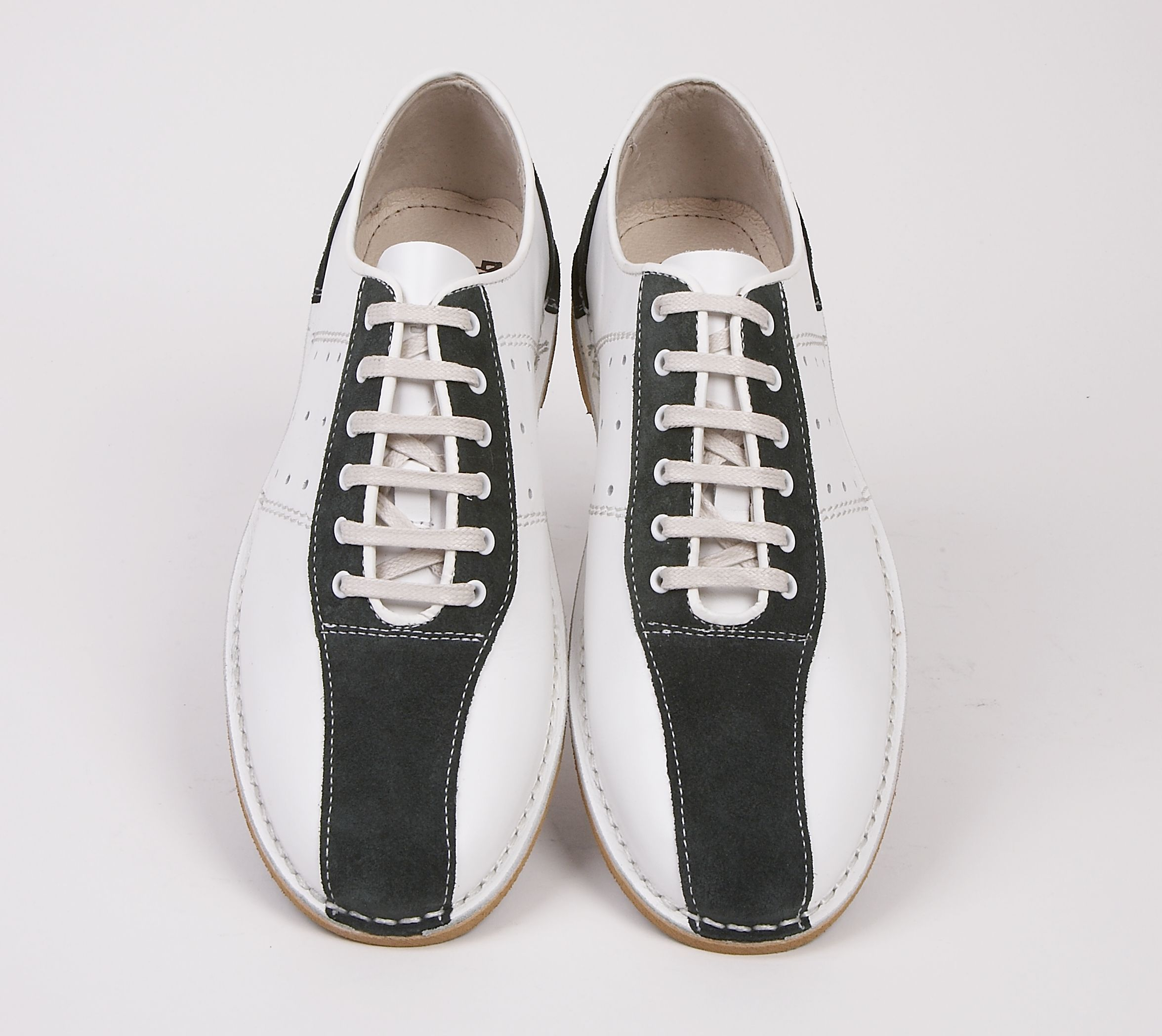Watts white & green bowling shoe by Delicious Junction.