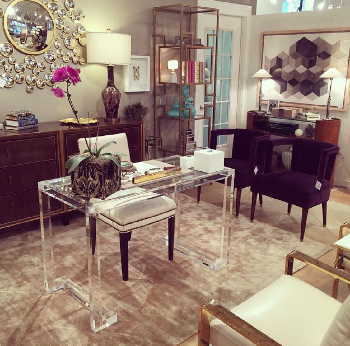 Beautiful lucite desk   Interior design, Lucite desk, Home ...