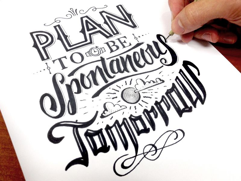 Plan to be Spontaneous Sketch by Wells