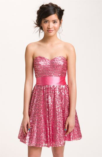 Way In Sequined Party Dress Juniors Available At Nordstrom My