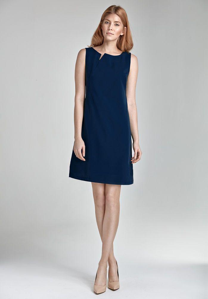 d17786ef55b Robe courte femme bleu chic élégante sans manches mode été NIFE S23 ...