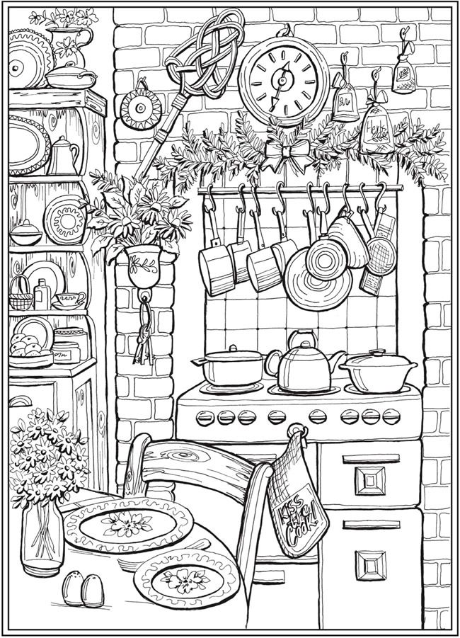 Page 4 of 7 COUNTRY CHARM a Creative Haven Coloring Book by Teresa - fresh coloring pages for fourth of july