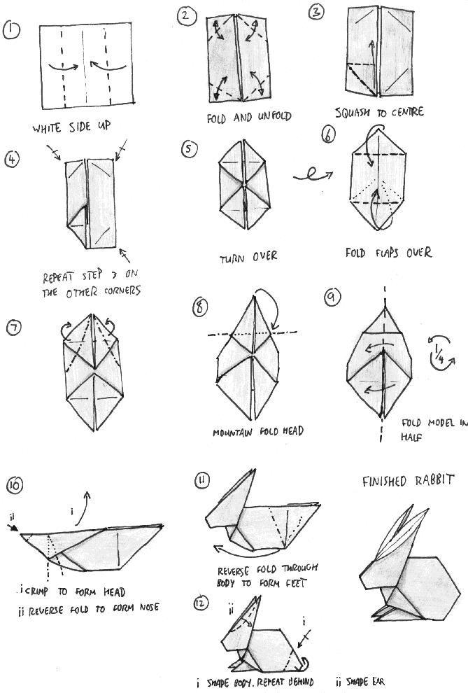 origami bunny box instructions