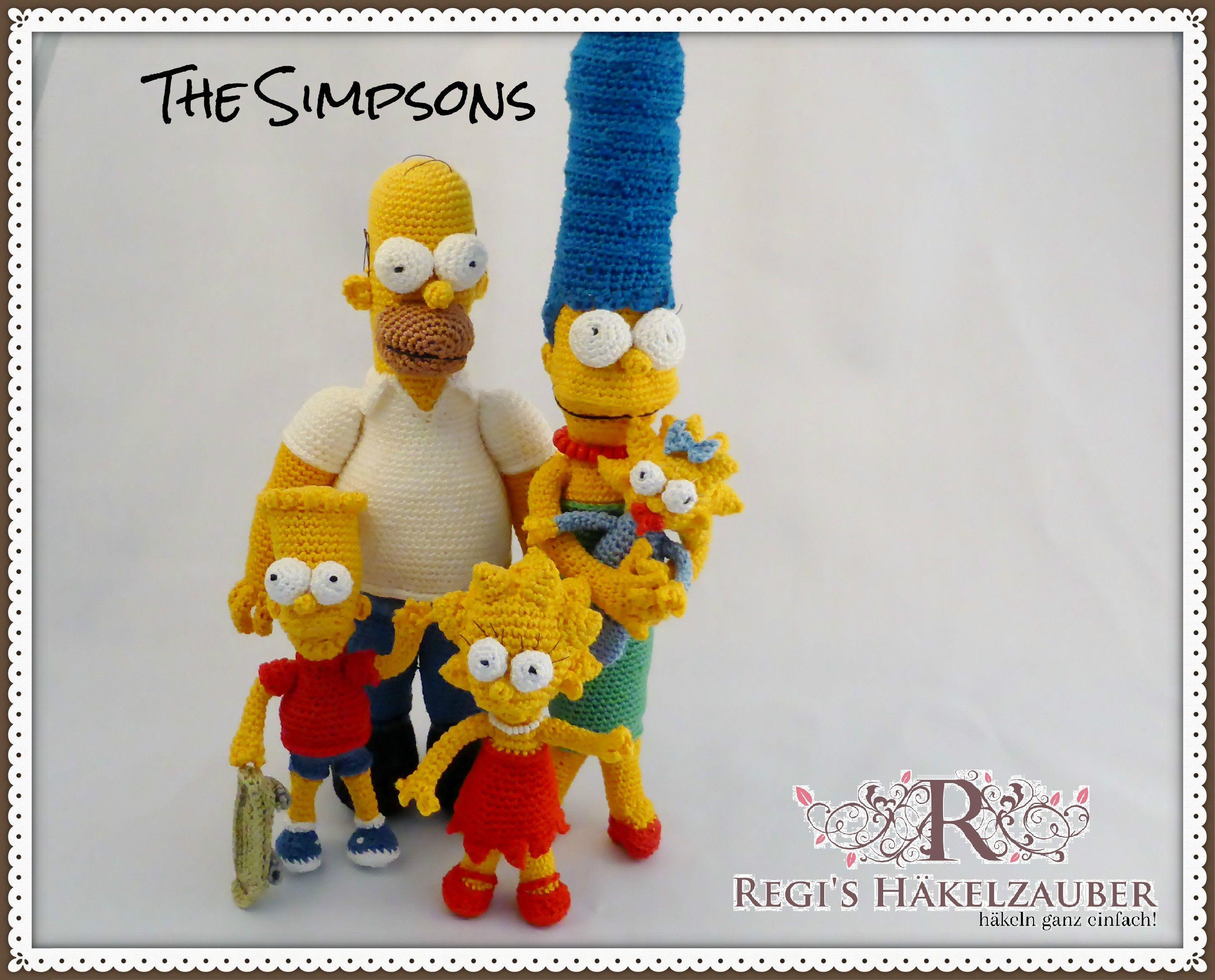 Dies sind Häkelanleitungen zu den Simpsons-Figuren. Einfach und ...