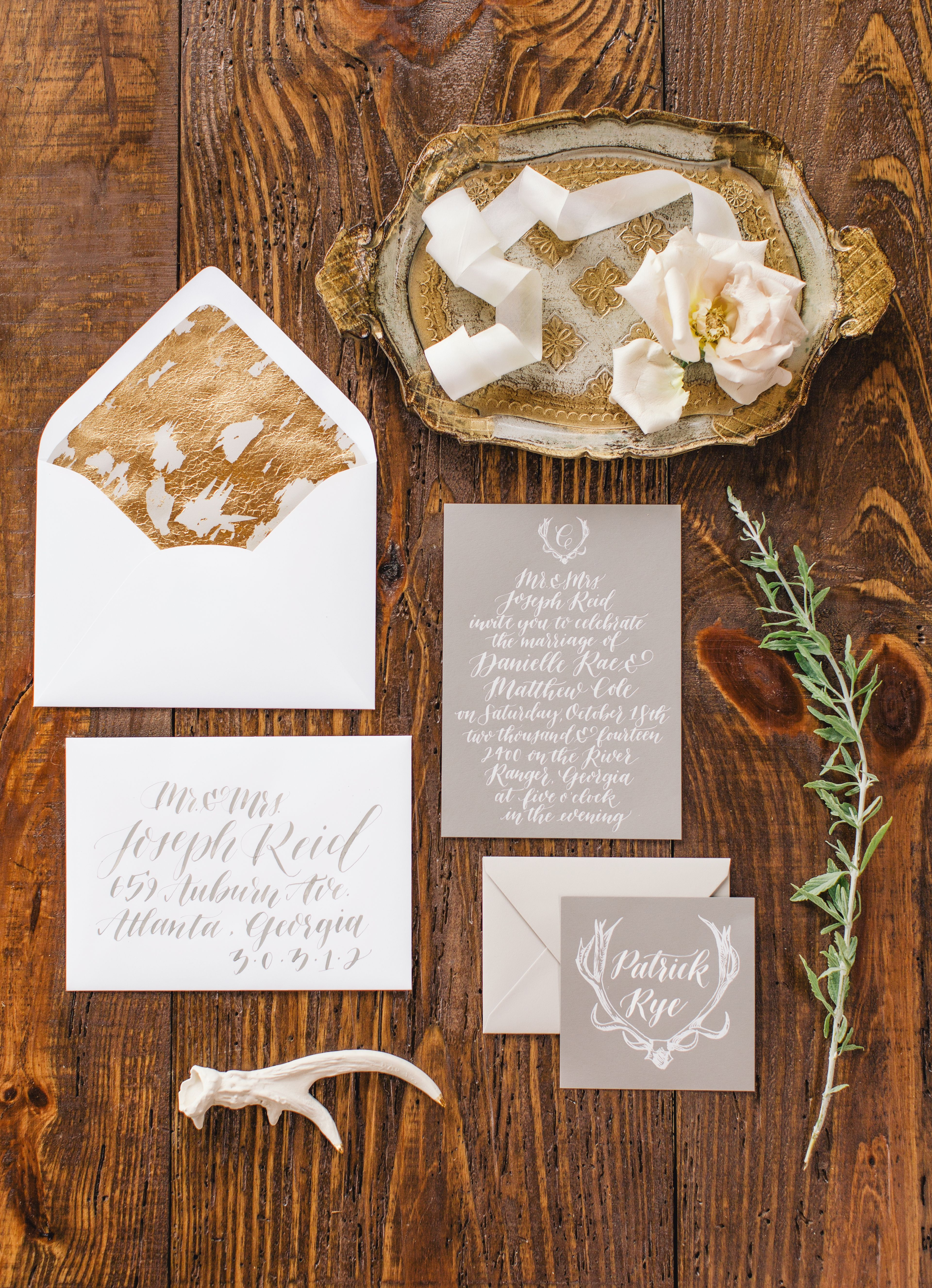 Gray And Gold Modern Stationery Photography By Http Www Vuephotographyonline