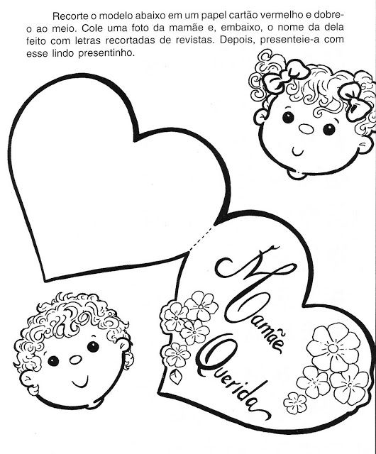 Desenhos Do Dia Das Maes Para Imprimir E Colorir Pintar Cartao