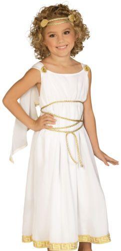 Kids Girls Greek Roman Goddess Toga Halloween Costume Craft Ideas