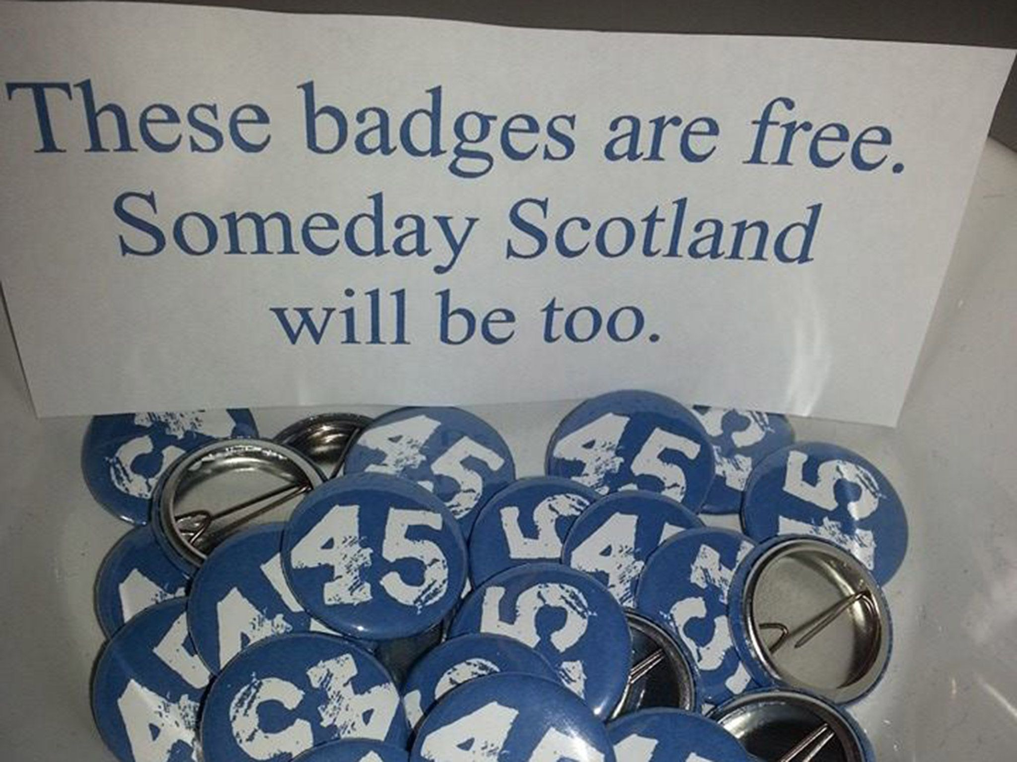 A campaign identifying itself as the '45 percent' has emerged in the wake of the Scottish referendum and has become a rallying cry for those determined to keep the dream of Scottish independence alive.