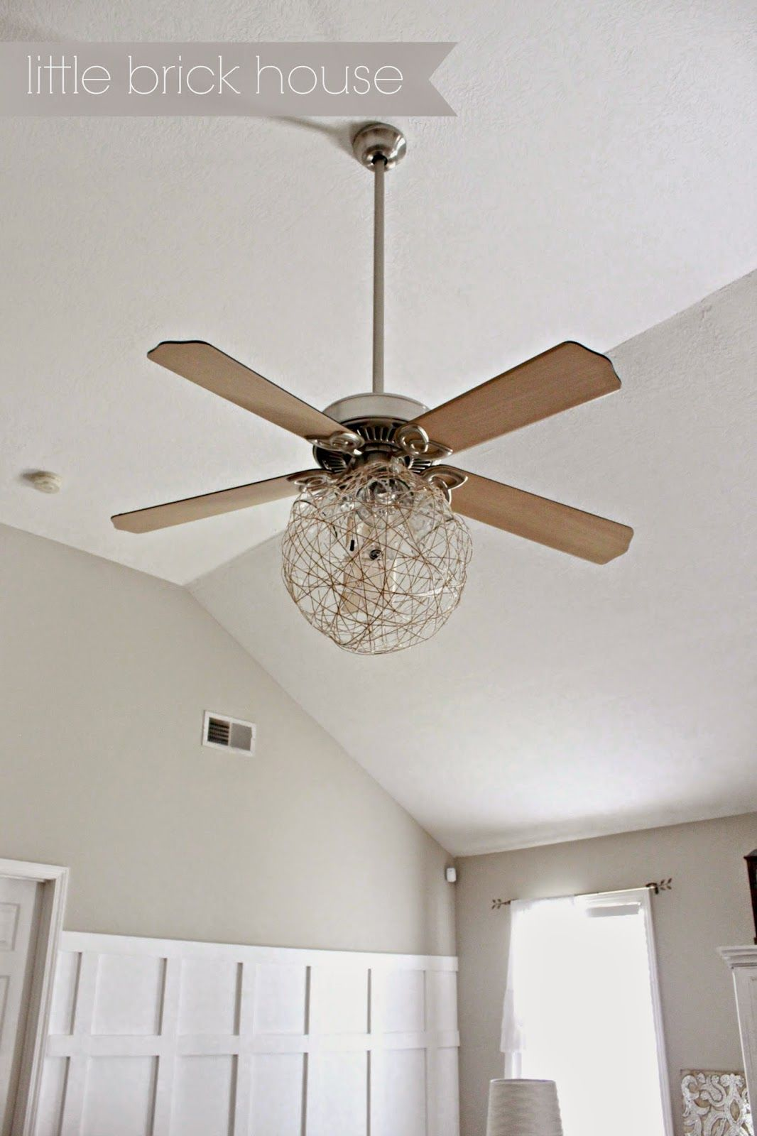 Little Brick House Ceiling Fan Makeover Lighting Ceiling Fan Makeover Ceiling Fan Ceiling Fan Blade Covers