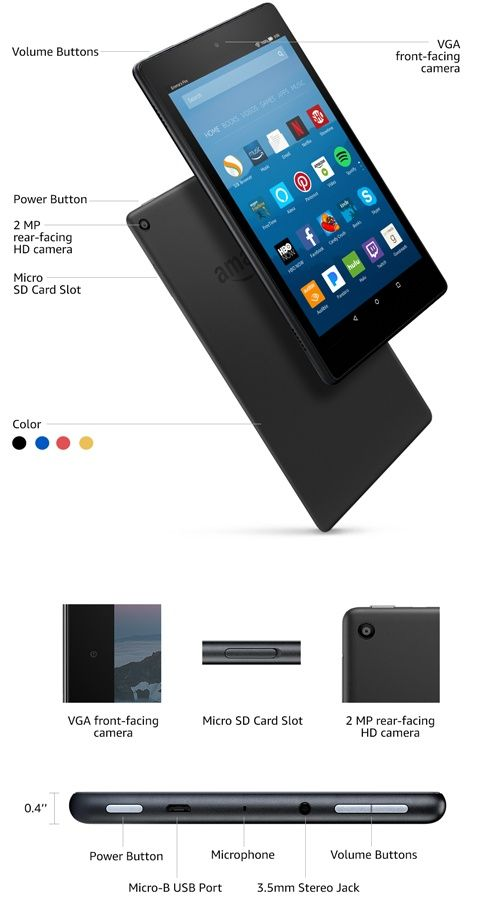All New Fire Hd 8 Amazon Official Site Up To 12 Hours Of Battery Vibrant Hd Display Fast Performance Tablet Kindle Fire Tablet Fire Tablet