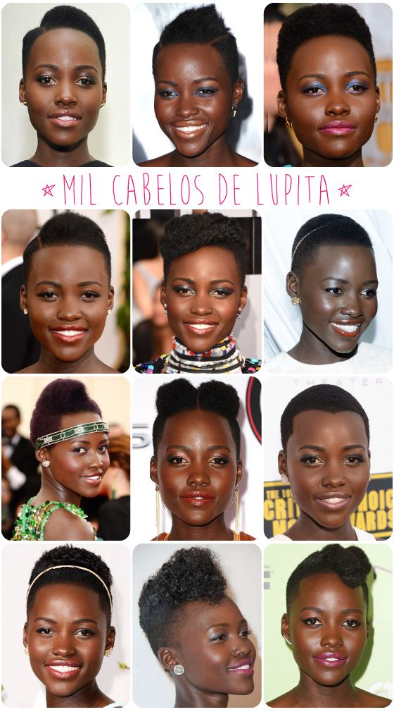 Lupita's ever-changing hair!