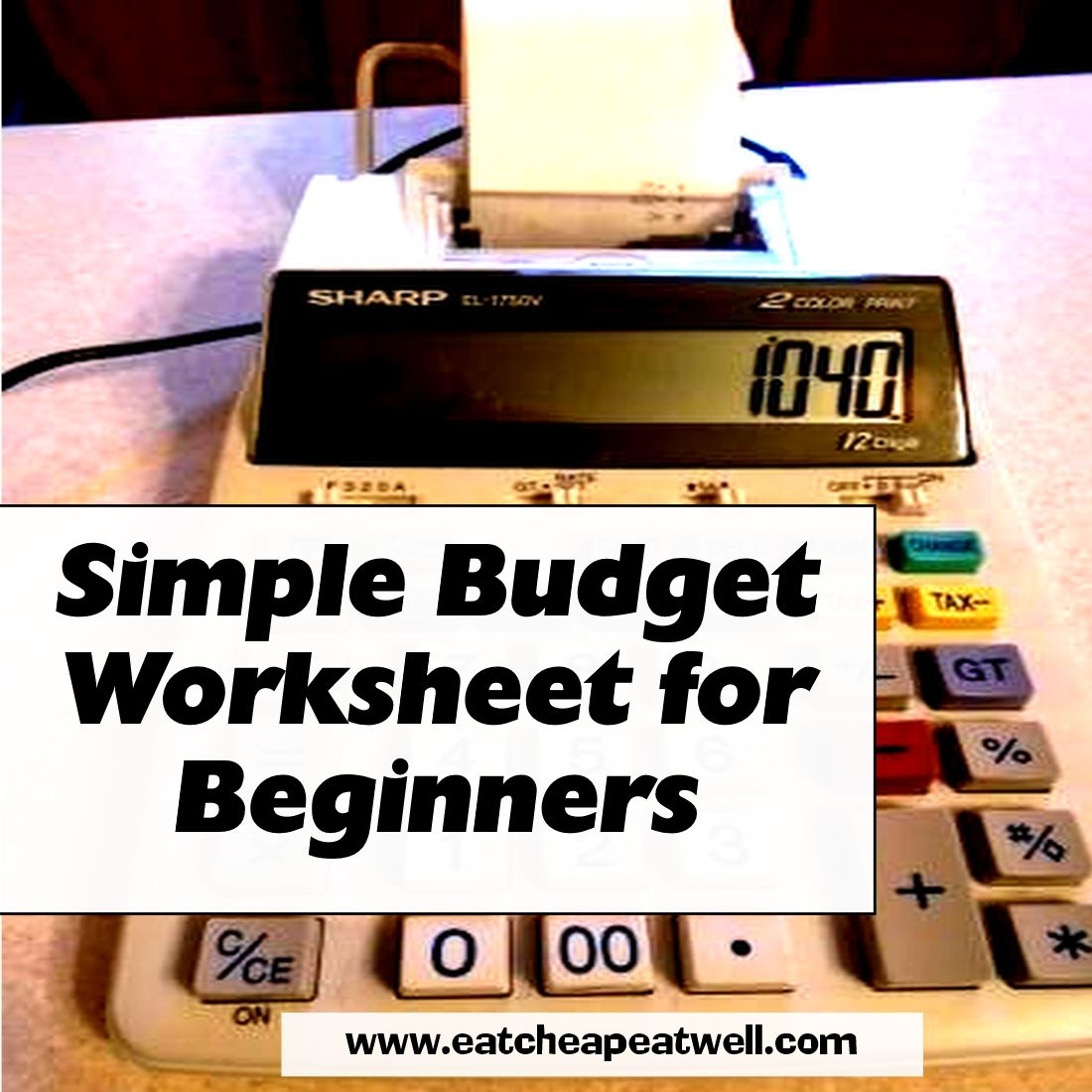 Budget Template To Get You Started In Taking Charge Of