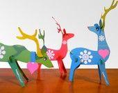 Christmas reindeer paper ornaments PDF kit. $7,00, via Etsy.