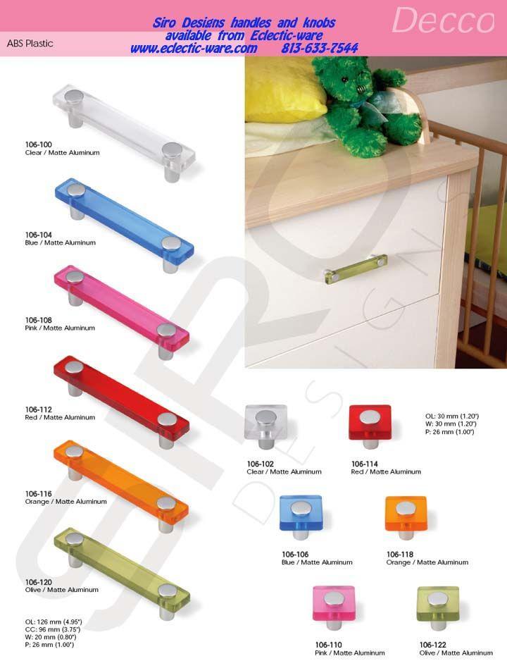 Siro Designs Decco collection - colorful ABS plastic cabinet ...