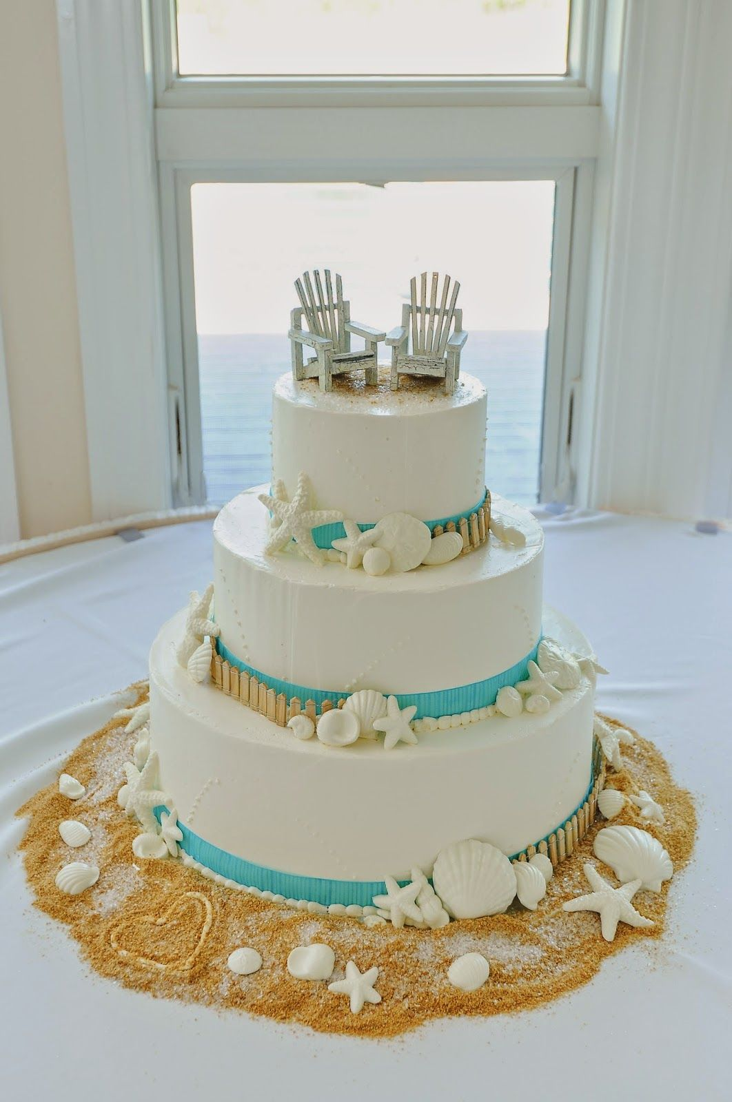 beach theme wedding cake pictures diy weddings chicagostyle weddings diy weddings 11163