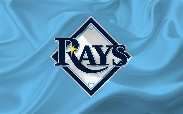 Download Wallpapers Tampa Bay Rays Baseball Major League Baseball Logo Emblem Usa Mlb Besthqwallpapers Com Major League Baseball Logo Rays Baseball Tampa Bay Rays