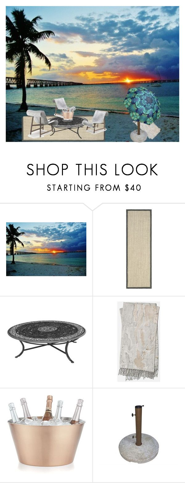 """Marble sunset #1"" by lauren-ilana ❤ liked on Polyvore featuring interior, interiors, interior design, home, home decor, interior decorating, Safavieh, Frontgate, Home Decorators Collection and Crate and Barrel"