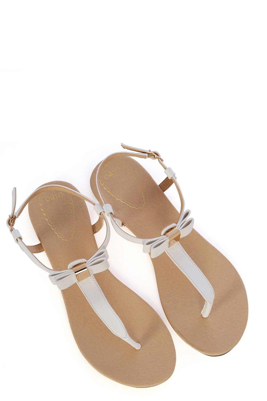 White Bow Toe Post Sandal | Oasis