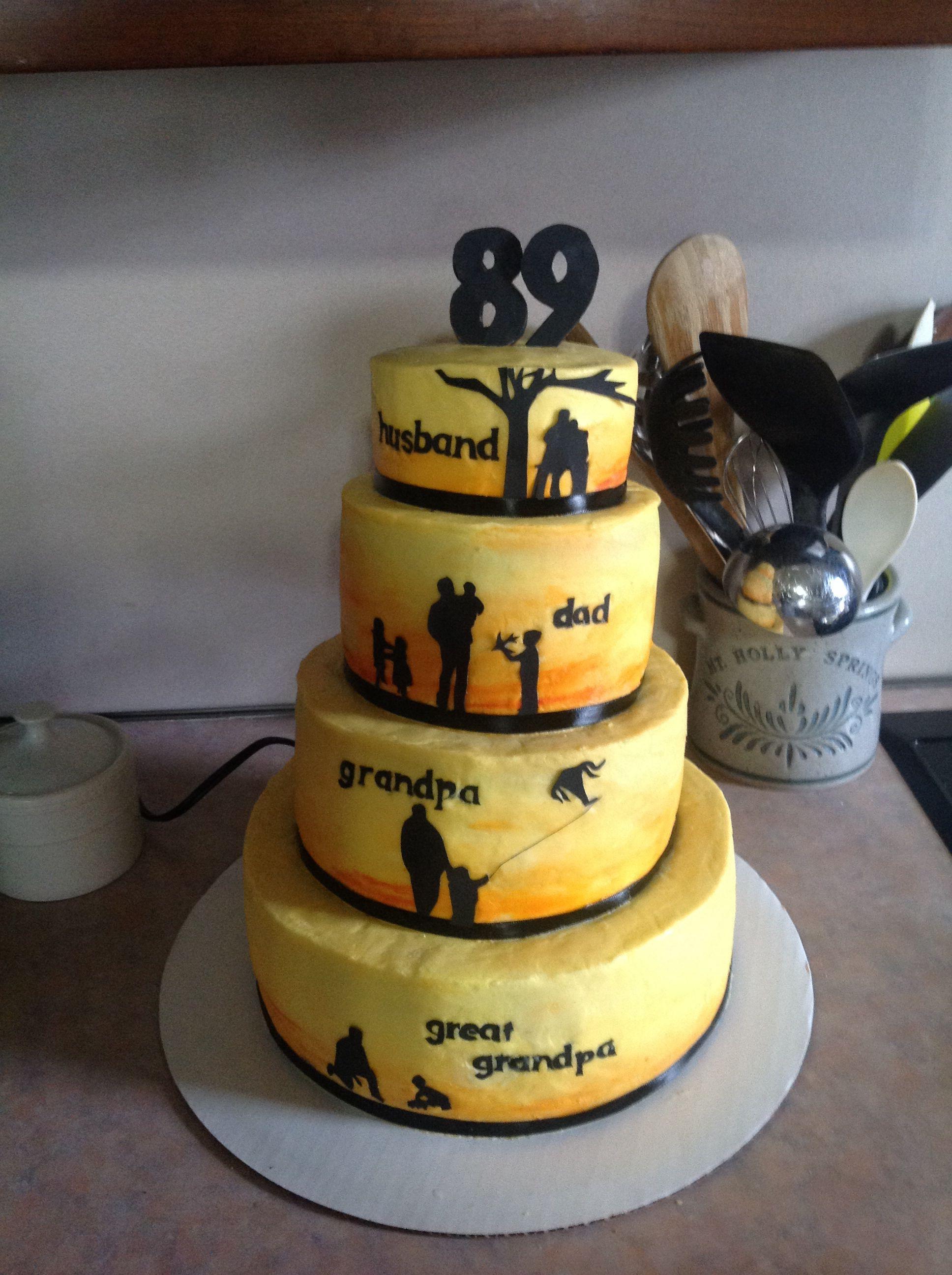 Birthday cake for grandpa desserts cake food