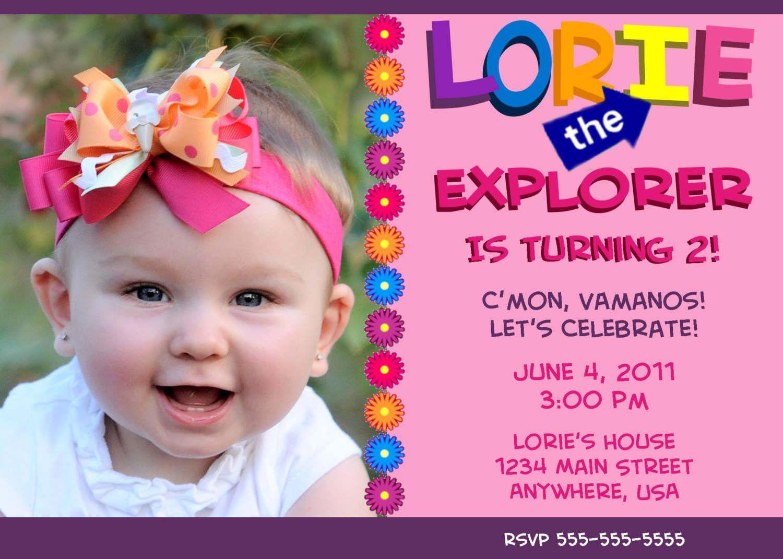 Free Printable Dora Invitations For Birthday | Carter\'s 2nd Birthday ...