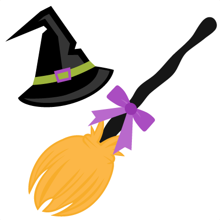 witch hat and broom svg scrapbook cut file cute clipart files for rh pinterest nz cute witch hat clipart