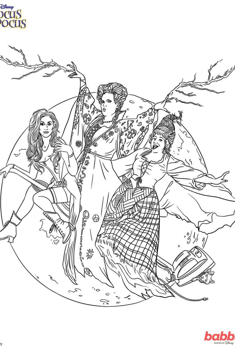 This Hocus Pocus Coloring Page Will Put A Spell On You -1548