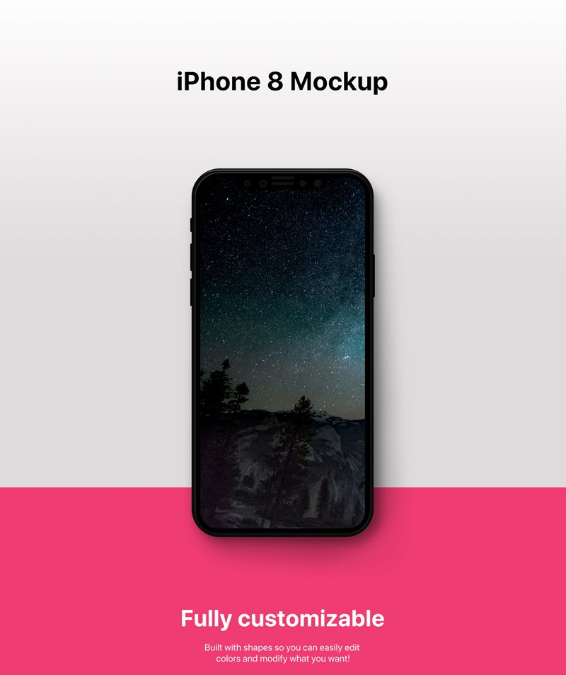 Download Fully Customizable Iphone 8 Psd Mockup Iphone Psd Mockup Iphone Mockup Psd Iphone App Design Iphone