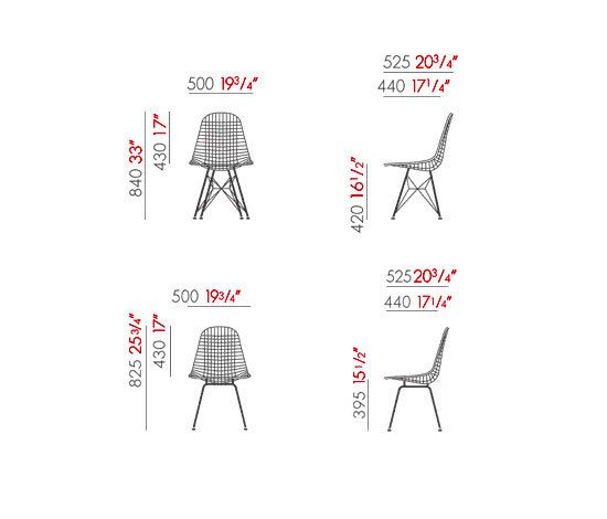 wire chair dkr charles eames ray eames vitra