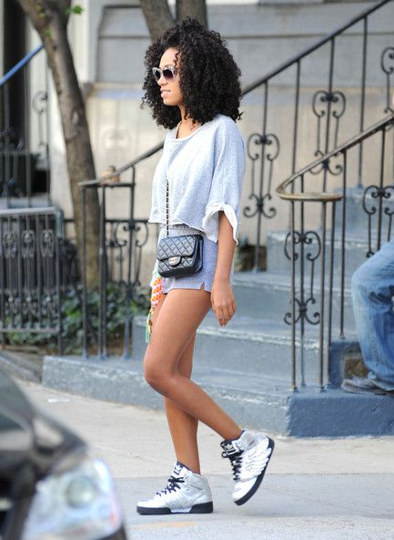 Solange Knowles, sneakers + Chanel