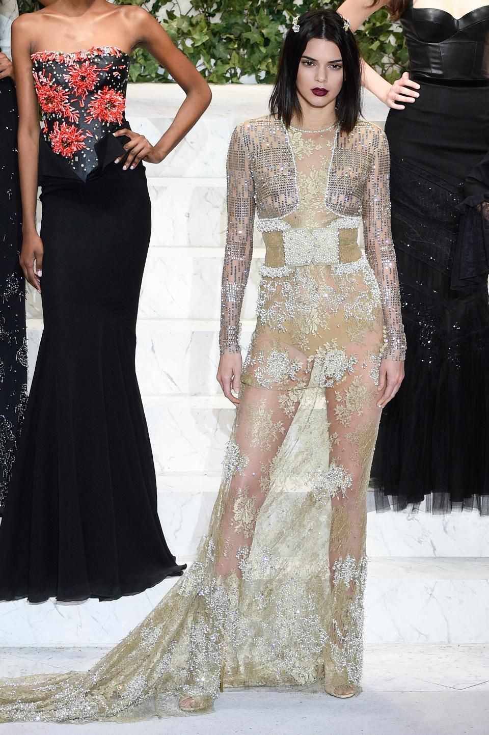 New York Ny February 09 Kendall Jenner Walks The Runway At La Perla Fashion Show Fall Winter 2017 20 Fashion New York Fashion Week 2017 Formal Dresses Long