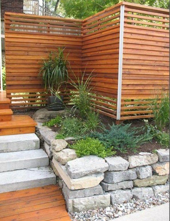 originelle exterior ideen holz gartenzaun pflanzen | outdoors