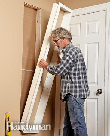 How to make your own built in shelves small bathroom basements and shelves - Diy ada cabinet ...