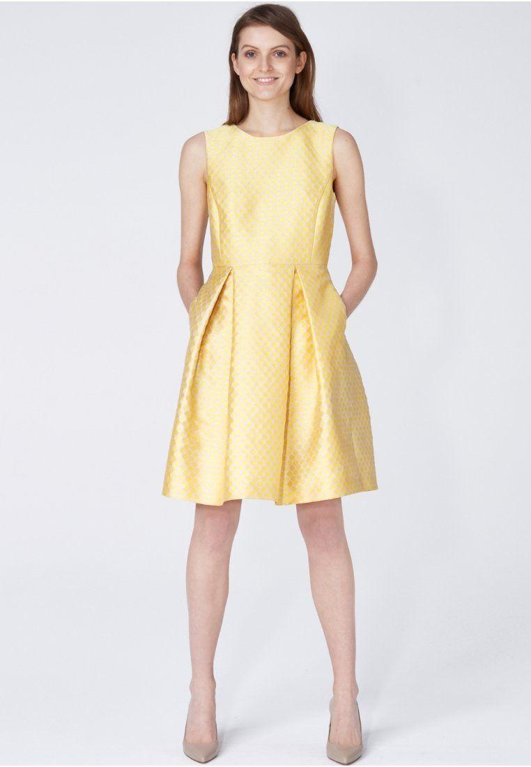 Cocktailkleid / festliches Kleid - soft yellow