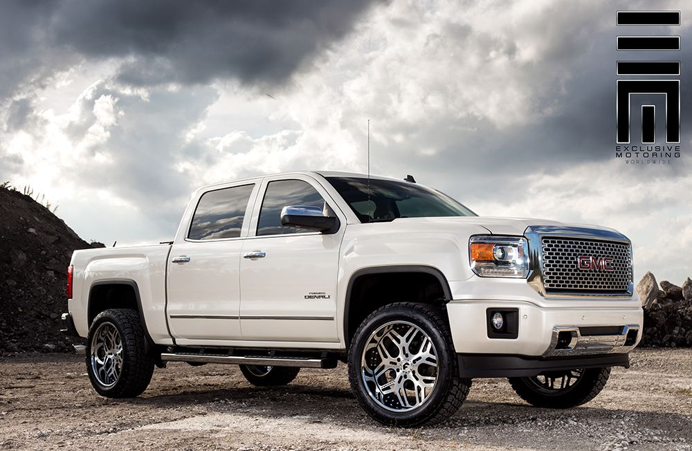 2014 gmc sierra lifted white. featuring the new forgiato terra quadrato on a 2015 gmc sierra denali with 4 inch lift kit rollnlock bed cover and 22 wheels in black 2014 gmc lifted white t
